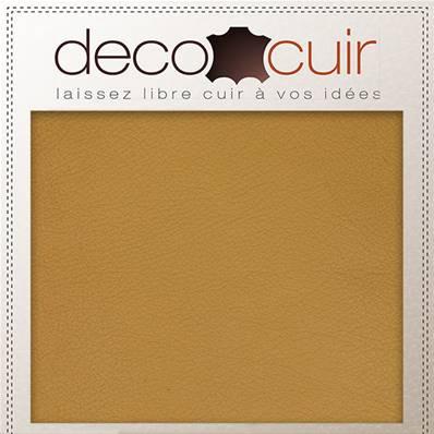 Morceau de cuir SWEET 2 - OCRE - 15x20 cm - Ép 1 mm