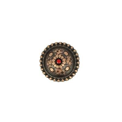 Concho CASPIENNE - 13 mm - Vieux cuivre