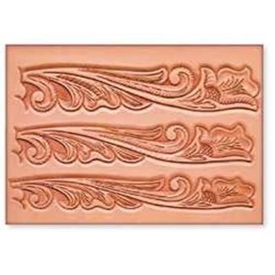 Calque réutilisable pour le transfert de motifs sur cuir - CEINTURE FLORAL