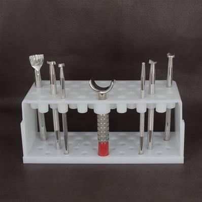 Kit basique 7 outils repoussage sur cuir végétal avec rangement en plastique - 8170-02