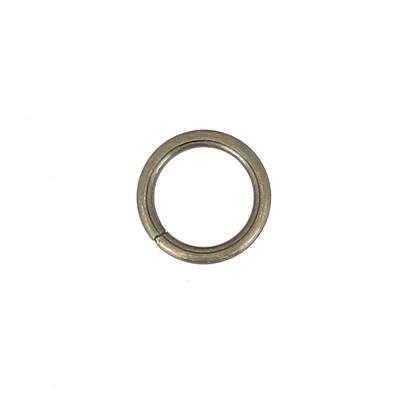 Anneau rond soudé - acier LAITON VIEILLI - 25 mm - Fil 4 mm