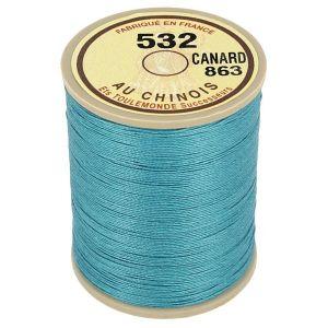 Bobine fil de lin au chinois câblé glacé - 532 - BLEU CANARD 863