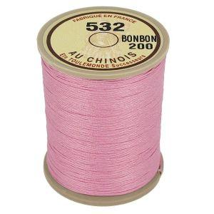 Bobine fil de lin au chinois câblé glacé - 532 - ROSE BONBON 200