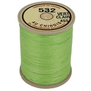 Bobine fil de lin au chinois câblé glacé - 532 - VERT CLAIR 455