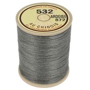 Bobine fil de lin au chinois câblé glacé - 532 - ARDOISE 872
