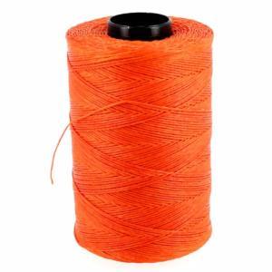 Bobine de fil polyester tressé et ciré - 500 mètres - diam 0,8 mm - ORANGE