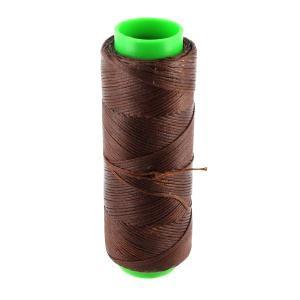 Bobine de fil polyester tressé et ciré - 100 mètres - diam 1 mm - MARRON CHATAIGNE