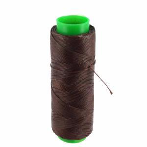 Bobine de fil polyester tressé et ciré - 100 mètres - diam 1 mm - MARRON