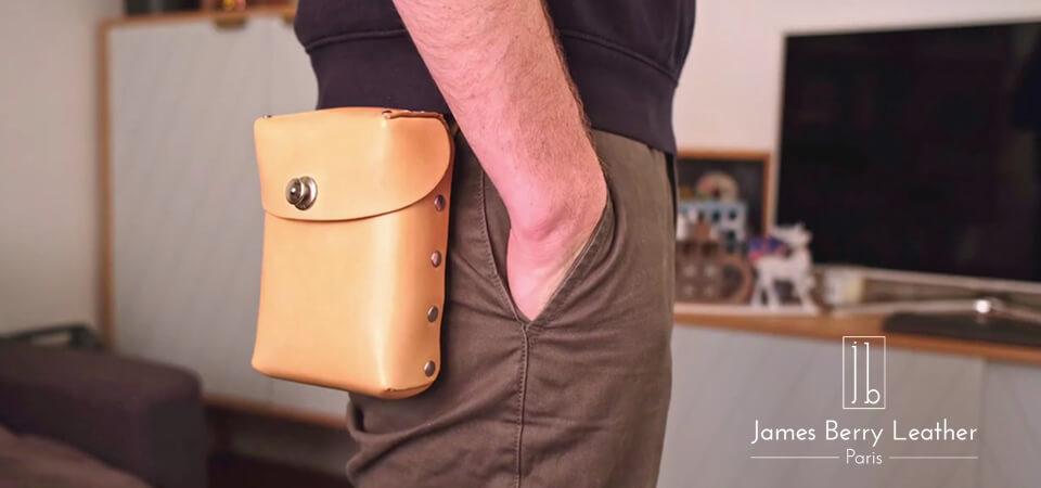 Pochette de ceinture en cuir sans couture avec James Berry [FR] [EN]
