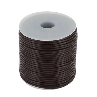 Lacet en cuir rond - diam 1,5 mm - CHOCOLAT