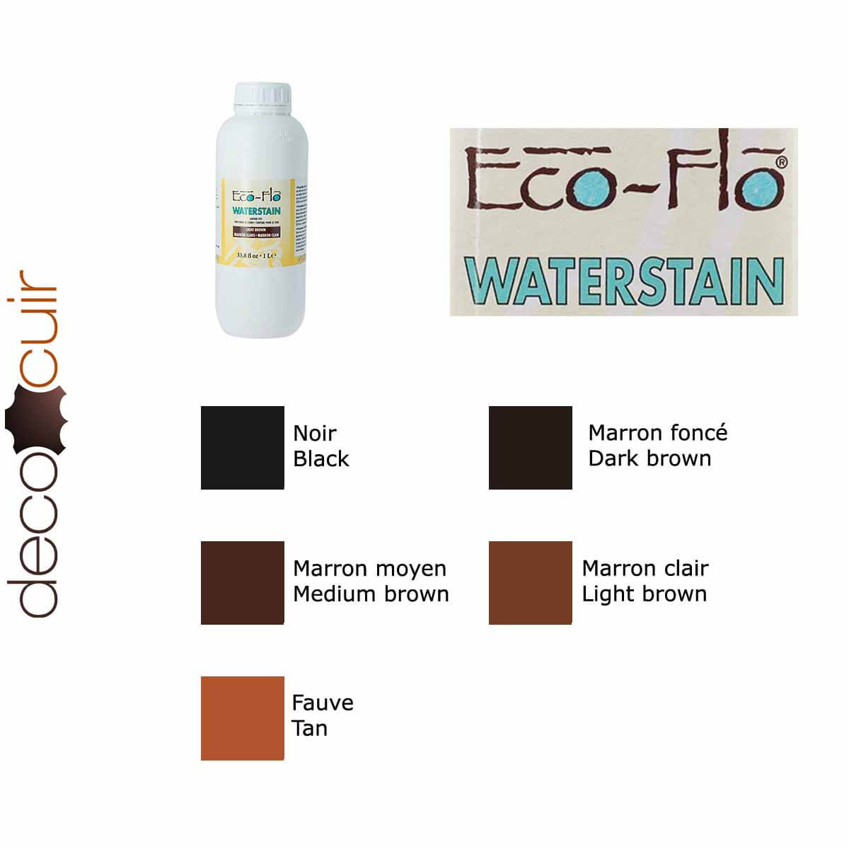 Teinture base aqueuse Eco-Flo Waterstain - 1Litre