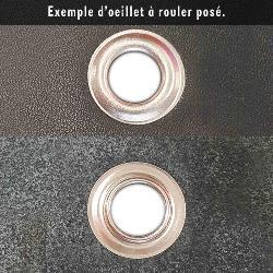 Kit Oeillets à rouler et outil de pose - 8 mm - LAITON VIEILLI