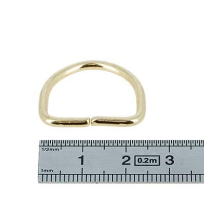 Anneau demi rond - acier DORÉ - 20x16x2,5 mm