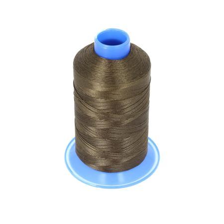 Bobine de fil polyester retors N° 60 - 700 mètres - Marron