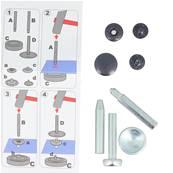Kit 10 boutons pression et outils de pose - 15 mm - NOIR