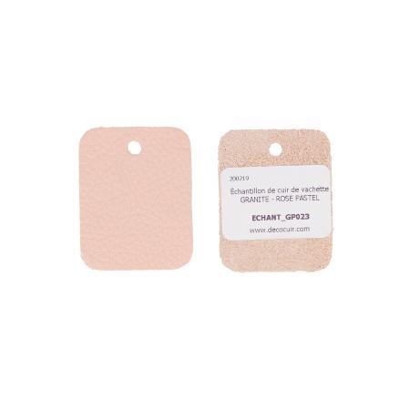 Échantillon de cuir de vachette GRANITE - ROSE PASTEL