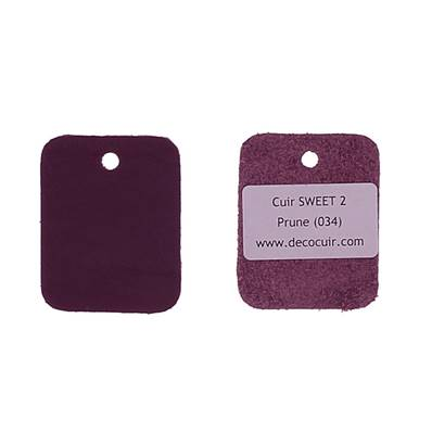 Un échantillon de cuir de vachette SWEET 2 - PRUNE
