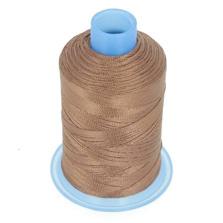 Bobine de fil polyester retors N° 30 - 400 mètres - MARRON CHATAIGNE