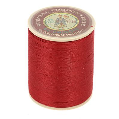Fil Spécial Cordonnerie 100% polyester - Bobine 750 m - ROUGE 525