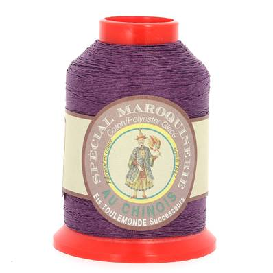 Fil Spécial Maroquinerie polyester coton - 28/3 - 0,45 mm - VIOLET