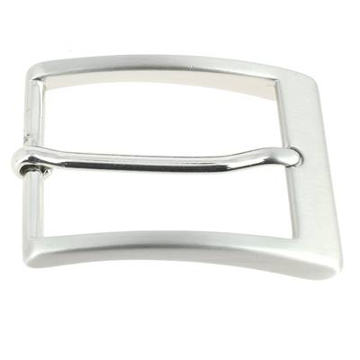 Boucle de ceinture LYA - NICKEL FREE SATINÉ - 35 mm