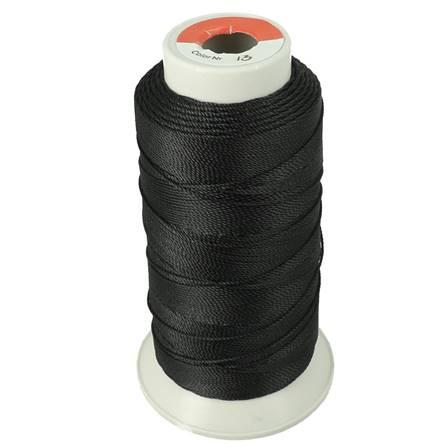 Bobine de fil polyester N°8 - 200 m - Noir