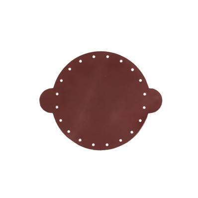 Cuir déja coupé pour faire une bourse en cuir BORDEAUX - Diamètre 14,5 cm