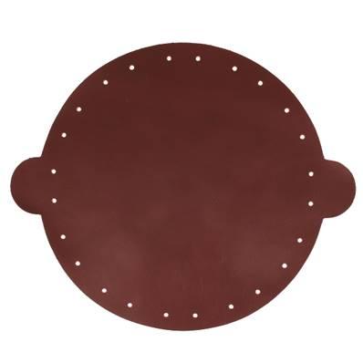 Cuir déja coupé pour faire une bourse en cuir BORDEAUX - Diamètre 25 cm