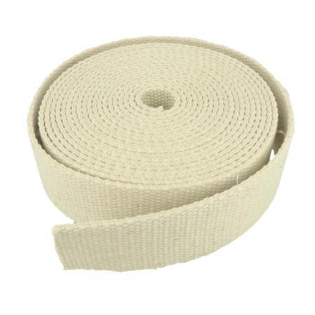 Sangle coton couleur LIN - Largeur 40 mm - 5 mètres