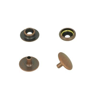 Lot de 100 boutons pression FORT en acier - VIEUX CUIVRE - TANDY LEATHER - LINE 20 : 12,5 mm
