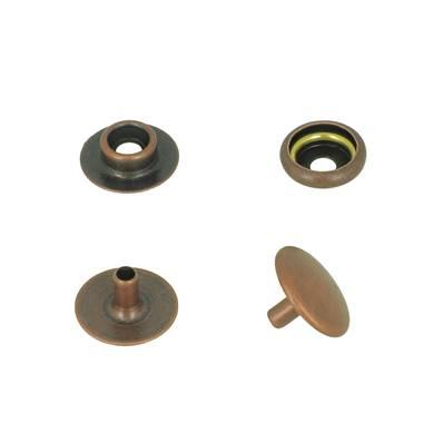 Lot de 100 boutons pression FORT en acier - VIEUX CUIVRE - TANDY LEATHER - LINE 24 : 15 mm