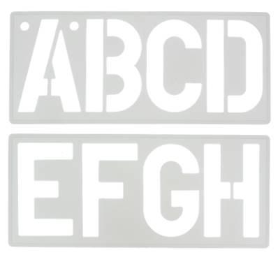 Trace-lettres - Majuscules, chiffres et symboles - Hauteur 100 mm