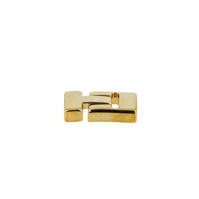 Fermoir bijou ISA aimanté - Lacet plat 10 mm - DORE