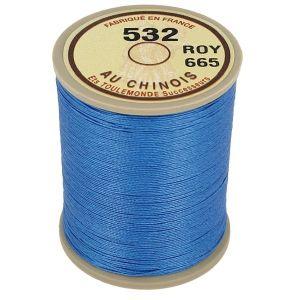 Bobine fil de lin au chinois câblé glacé - 532 - BLEU ROY 665