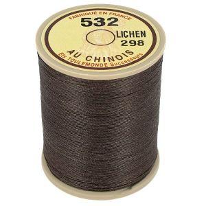 Bobine fil de lin au chinois câblé glacé - 532 - LICHEN 298