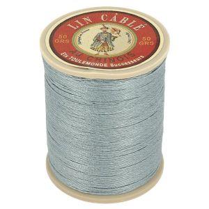 Bobine fil de lin au chinois câblé glacé - 332 - GRIS SOURIS 992