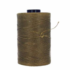 Bobine de fil polyester tressé et ciré - 500 mètres - diam 0,8 mm - SAVANE