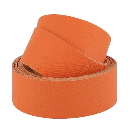 Sangle MANDARINE - Grain dauphin - Largeur 19 mm