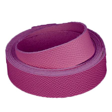 Sangle ROSE FUCHSIA - Grain dauphin - Largeur 19 mm