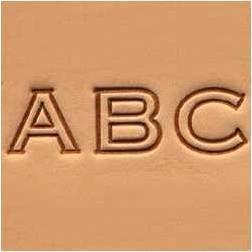Jeu des 26 lettres de l'alphabet à frapper - 1,25 cm