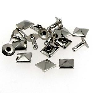 Lot de 10 clous à riveter - Nickelé - forme PYRAMIDE - 10 mm