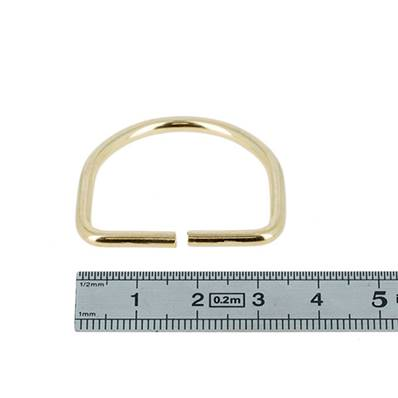 Anneau demi rond - acier DORÉ - 30x25x3 mm