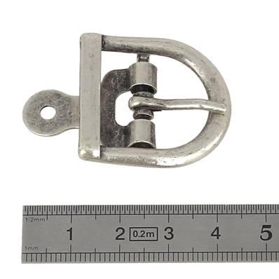 Boucle à ardillon avec chape - ARGENT VIEILLI - 22 mm