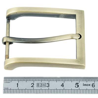 Boucle de ceinture - LAITON VIEILLI SATINE - 35 mm