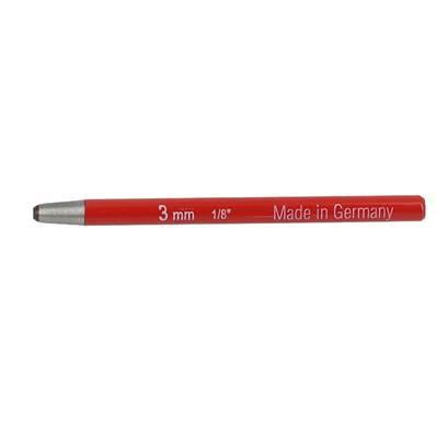 Emporte pièce à frapper ROND manche DROIT - diam : 3 mm