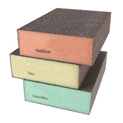 Lot de 3 éponges abrasives