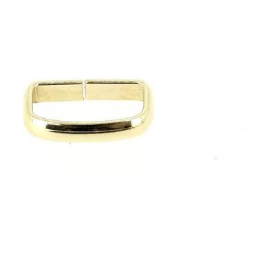 Passant rectangulaire - DORÉ - 15x7 mm