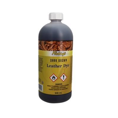 Teinture pour cuir FIEBING'S Leather dye - MARRON FONCE - bidon de 946ml