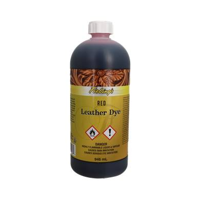 Teinture pour cuir FIEBING'S Leather dye - ROUGE - RED - Bidon de 946ml