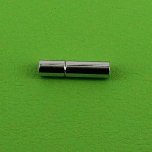 Fermoir bijou - Cylindre - Argent - Lacet rond 3 mm